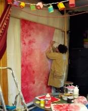 Peinture du paravent